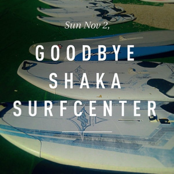 Photo taken at Shaka surf center by Andrea P. on 11/2/2014