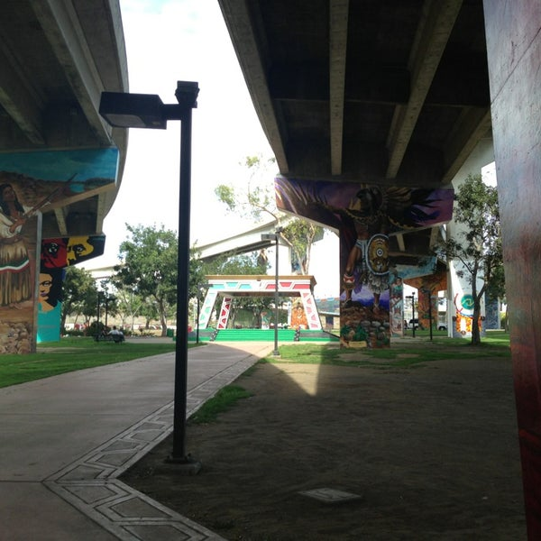 Photo taken at Chicano Park by Erika I. on 9/1/2013