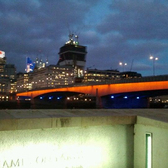 Photo taken at London Bridge by Marius B. on 11/9/2012