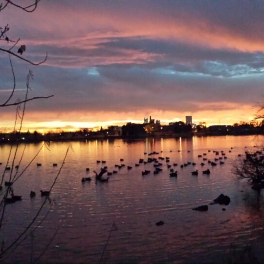 Photo taken at Sloan's Lake Park by Aj S. on 12/13/2014