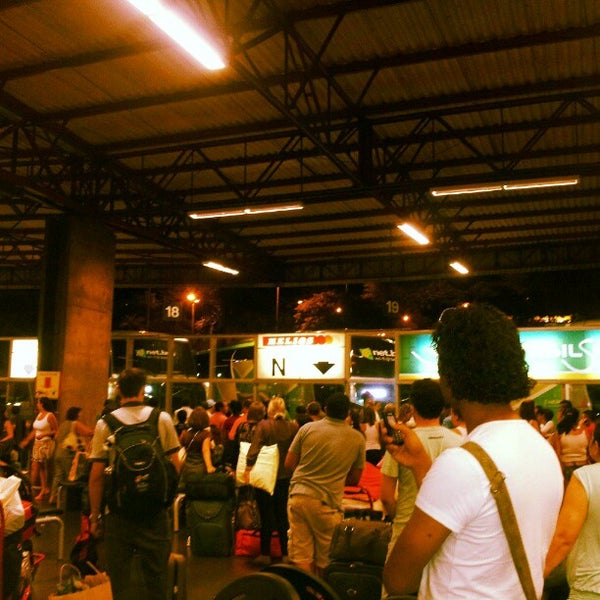 Photo taken at Terminal Rodoviário José Garcia Villar by Cami V. on 12/23/2012