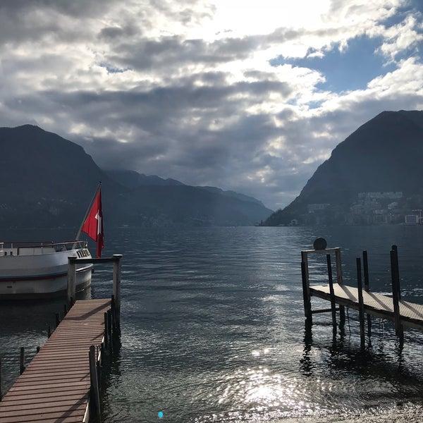Photo taken at Lago di Lugano by Barbara V. on 11/12/2017