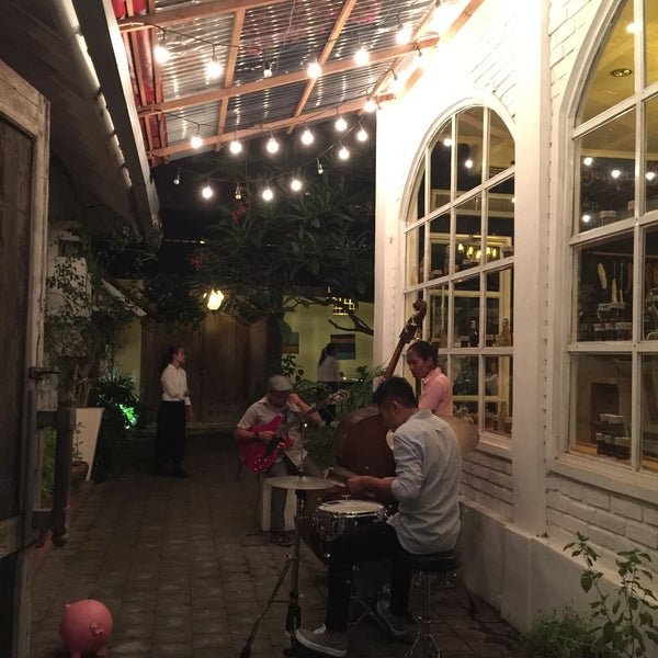 One of my favourite Italian restaurants in Bali. Romantic ambience. Book a table outside. They have a live band playing smooth jazz on weekend nights.