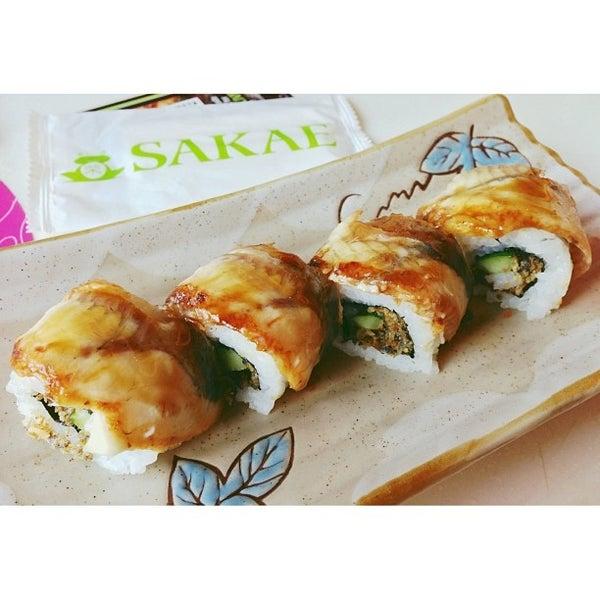 Photo taken at Sakae Sushi by Haziq A. on 12/7/2013