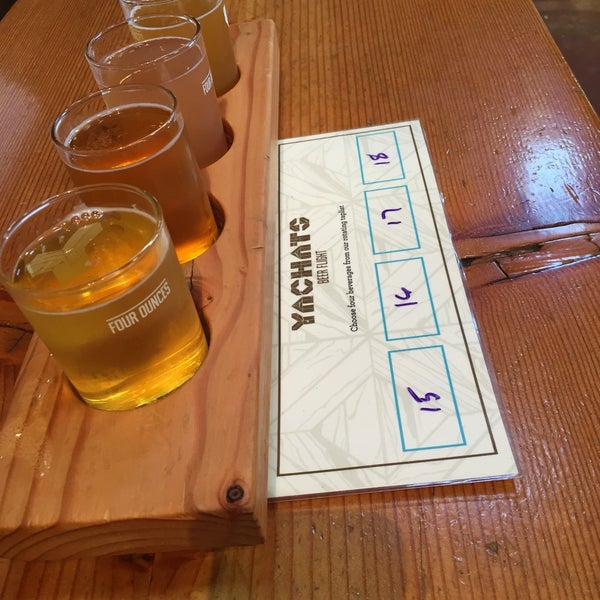 Photo taken at Yachats Brewing + Farmstore by Kim S. on 8/24/2016