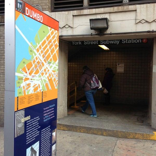 Photo taken at MTA Subway - York St (F) by Scott B. on 3/13/2013