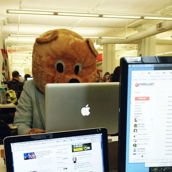 Photo taken at Thrillist HQ by Mike B. on 6/13/2014