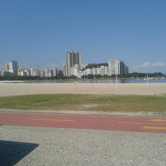 Photo taken at Flamengo Park by Jaqueline G. on 1/23/2013
