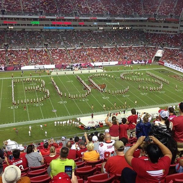 Photo taken at Raymond James Stadium by Rich G. on 9/15/2013