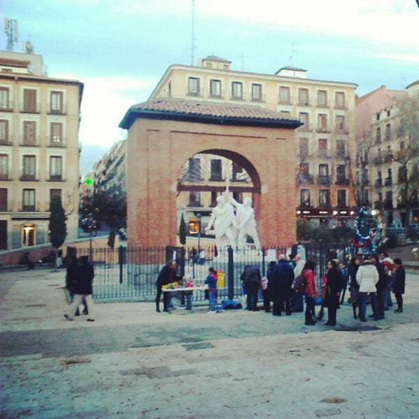 Photo taken at Plaza del Dos de Mayo by Jorge M. on 12/20/2012