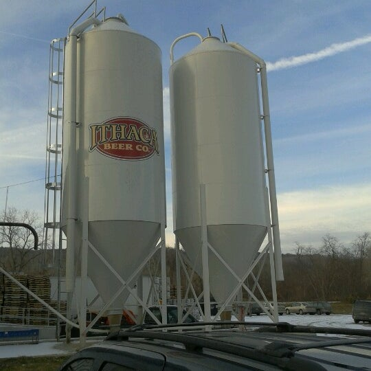 Photo taken at Ithaca Beer Co. Taproom by Adam P. on 1/27/2013
