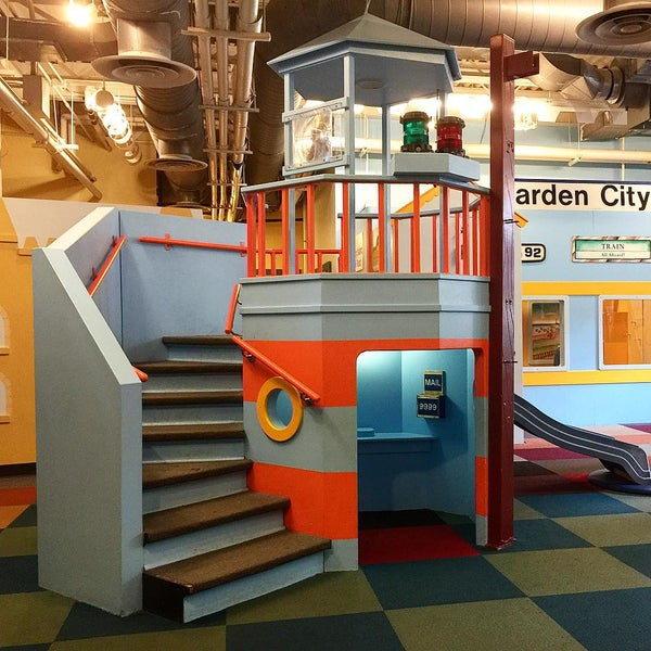 Photo taken at Long Island Children's Museum by Eva R. on 7/26/2015