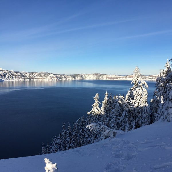 Photo taken at Crater Lake National Park by Elena A. on 12/19/2016