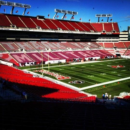 Photo taken at Raymond James Stadium by Sid J. on 11/11/2012