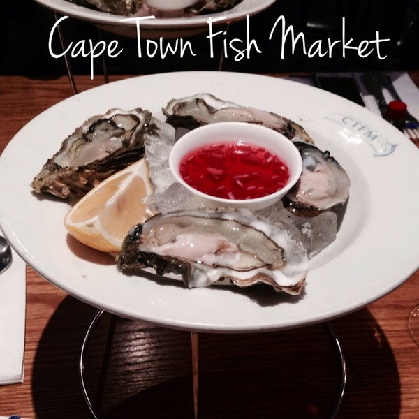 Photo taken at Cape Town Fish Market by Richard N. on 8/30/2014