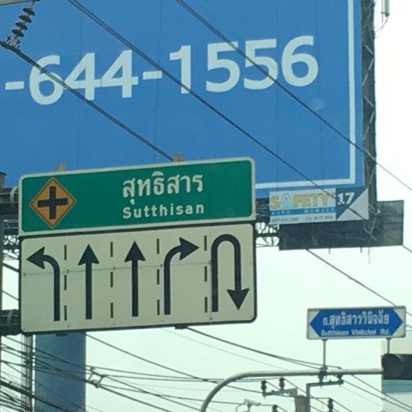 Photo taken at Sutthisan Intersection by Arnat😎 R. on 4/1/2018