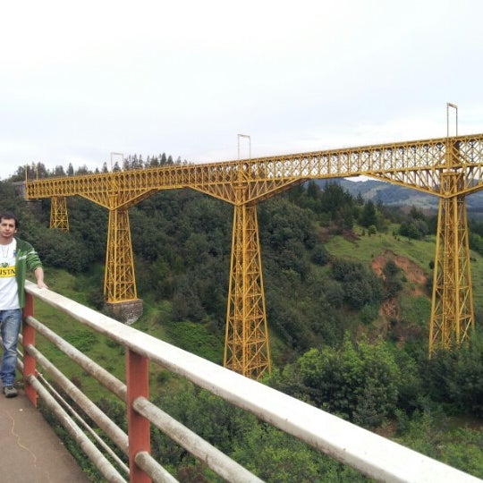 Photo taken at Monumento Nacional Puente Malleco by Nacho V. on 10/21/2012
