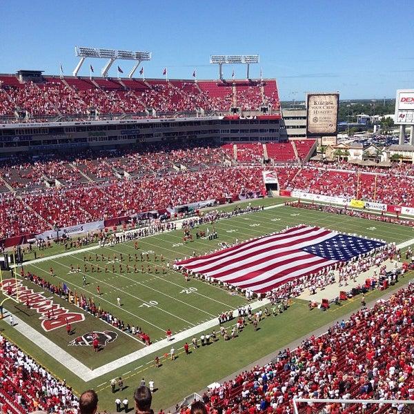 Photo taken at Raymond James Stadium by Joey A. on 9/29/2013