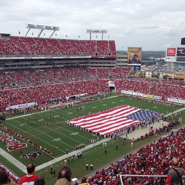 Photo taken at Raymond James Stadium by Joey A. on 11/17/2013