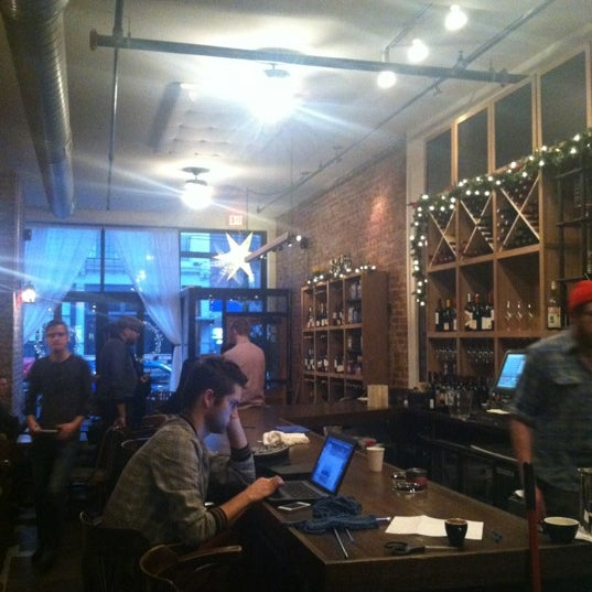 Photo taken at 1215 Wine Bar & Coffee Lab by Adam S. on 12/9/2012