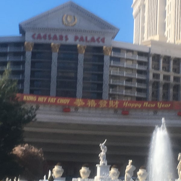 Photo taken at Caesars Palace Gardens by Steve K. on 1/29/2017