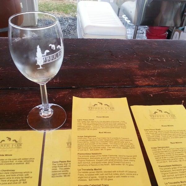 Photo taken at Three Fox Vineyards by Sarah B. on 9/21/2013