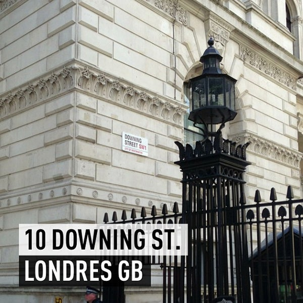 Photo taken at 10 Downing Street by Philippe K. on 7/29/2013