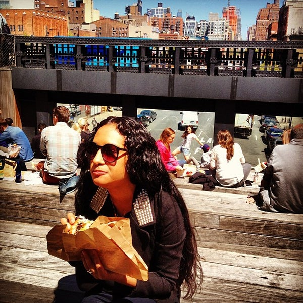 Photo taken at High Line 10th Ave Amphitheatre by delia on 5/1/2013