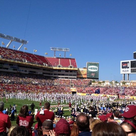 Photo taken at Raymond James Stadium by Torstein B. on 1/1/2013