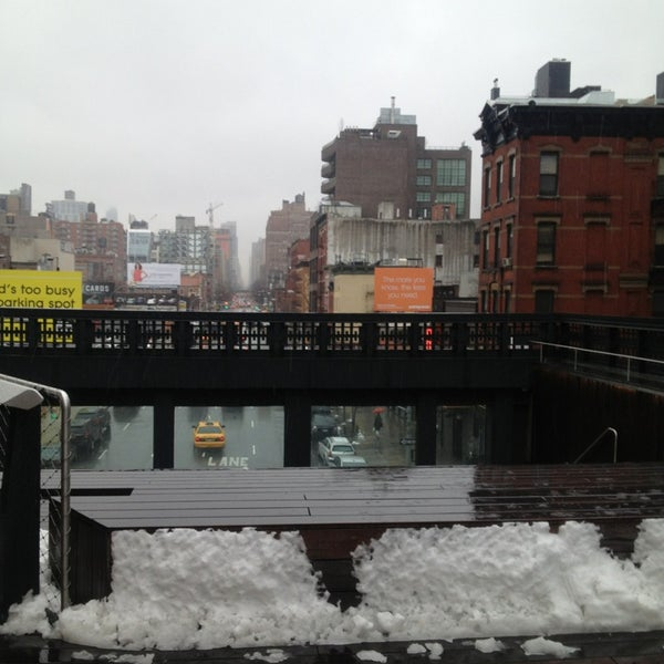 Photo taken at High Line 10th Ave Amphitheatre by Hatice K. on 3/19/2013