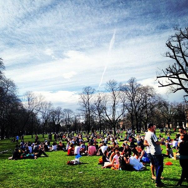 Photo taken at Clapham Common by Simon S. on 4/14/2013