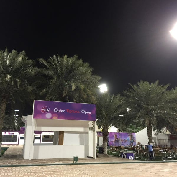 Photo taken at Qatar Tennis Federation by Ulrik S. on 2/20/2015