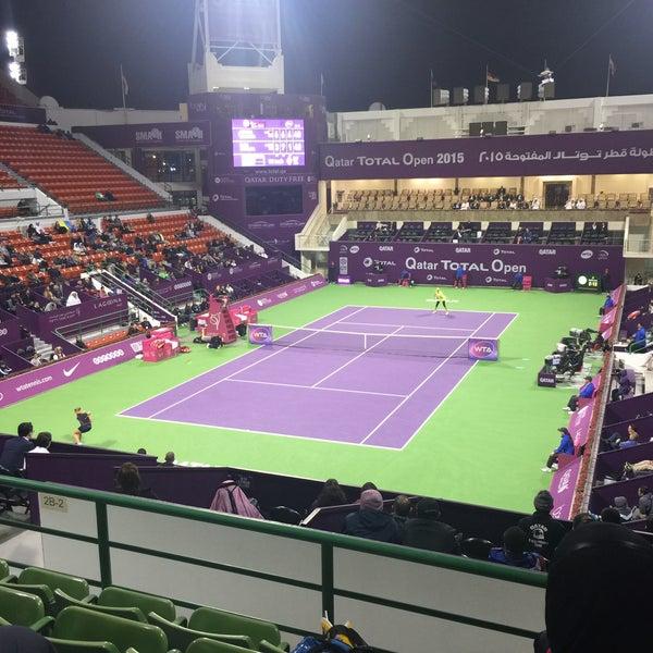 Photo taken at Qatar Tennis Federation by Ulrik S. on 2/25/2015