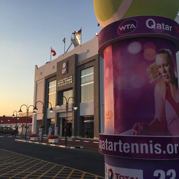 Photo taken at Qatar Tennis Federation by Ulrik S. on 2/23/2015