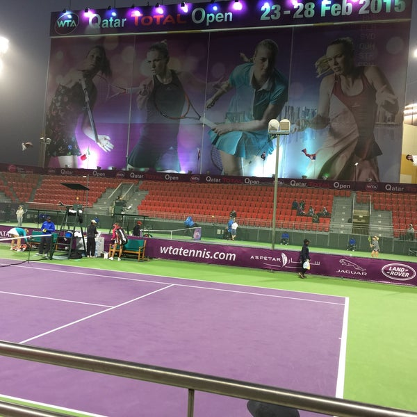 Photo taken at Qatar Tennis Federation by Ulrik S. on 2/22/2015