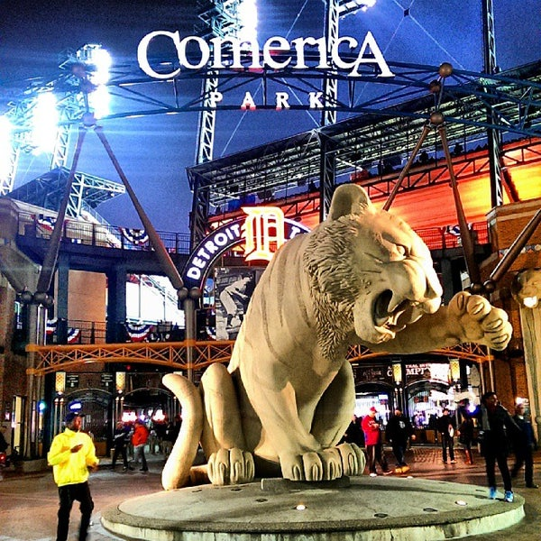 Photo taken at Comerica Park by Imad E. on 10/17/2013