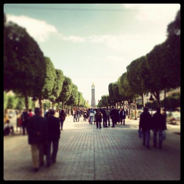 Photo taken at Avenue Habib Bourguiba by Sam S. on 3/6/2013