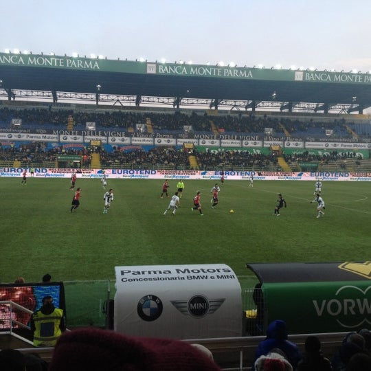 Photo taken at Stadio Ennio Tardini by Giorgio T. on 12/16/2012