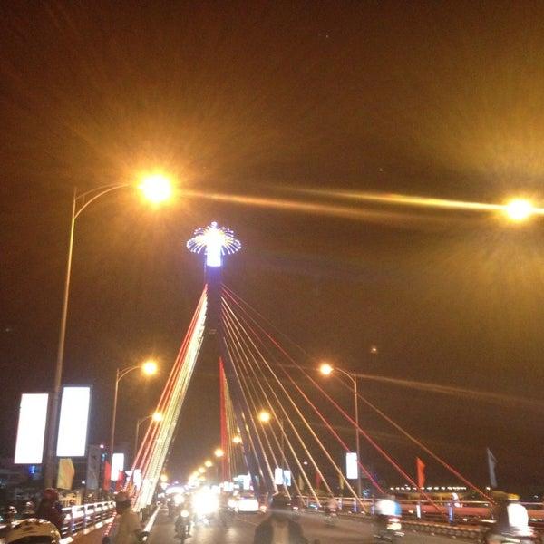 Photo taken at Han River Bridge by Nhi K. on 2/16/2013