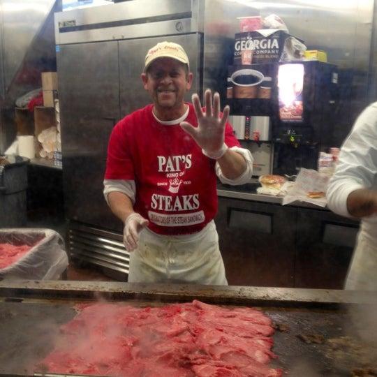 Photo taken at Pat's King of Steaks by Helen T. on 11/18/2012