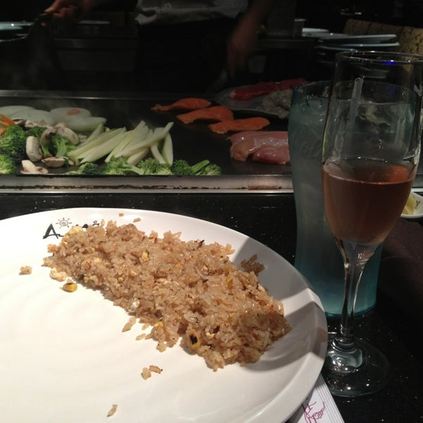 Photo taken at Aomi Japanese Steakhouse by Friday F. on 1/13/2013