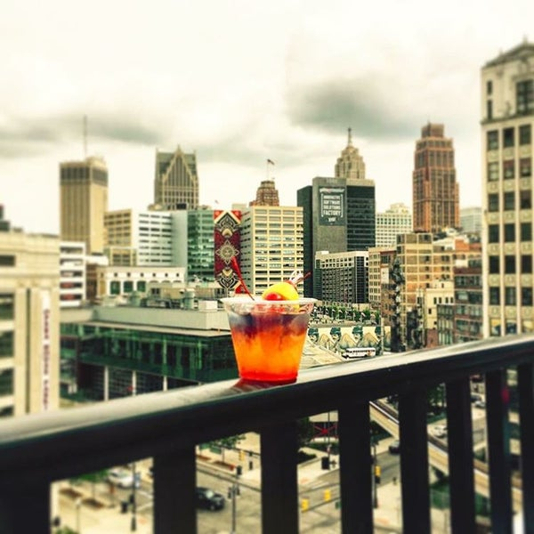 photos at detroit opera house sky deck (now closed) - beer garden in