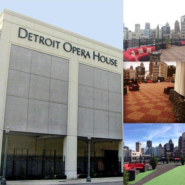 detroit opera house sky deck (now closed) - beer garden in detroit