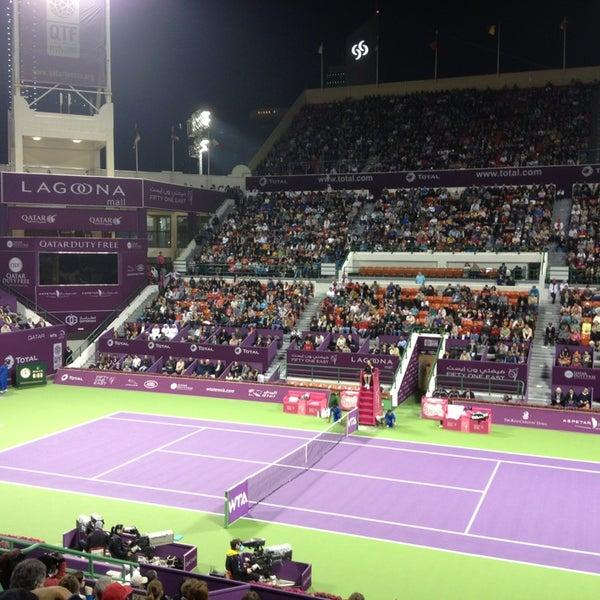 Photo taken at Qatar Tennis Federation by Yogi J. on 2/16/2013