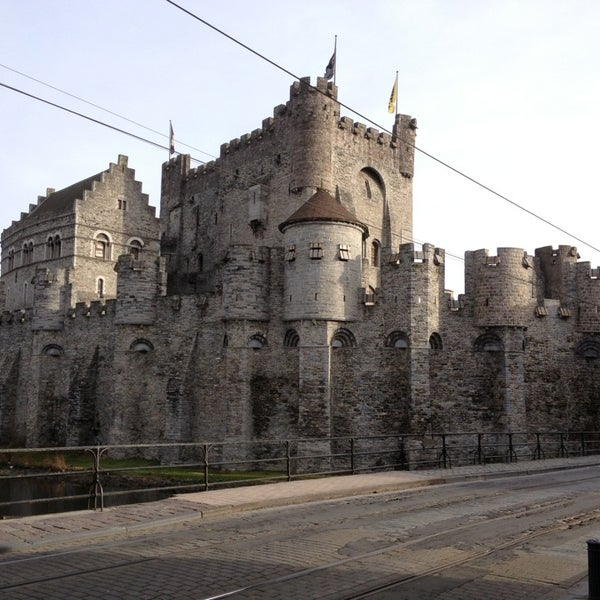 Photo taken at Castle of the Counts by David D. on 2/3/2013