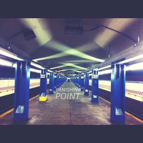 Photo taken at MTA Subway - York St (F) by Raúl O. on 12/23/2013