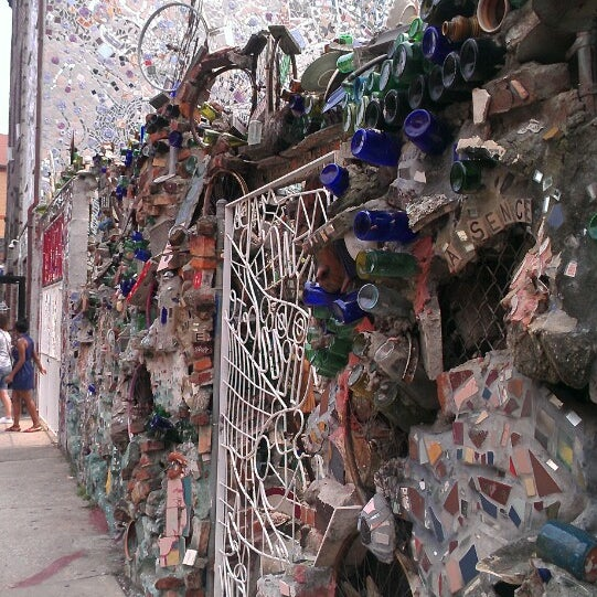 Photo taken at Philadelphia's Magic Gardens by Vinnie M. on 8/12/2013