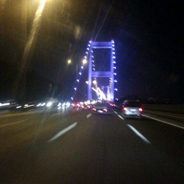 Photo taken at Fatih Sultan Mehmet Bridge by Yusuf D. on 7/13/2013