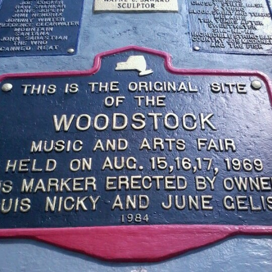 Photo taken at Woodstock Festival Concert Site/Monument by Debi E. on 9/17/2012