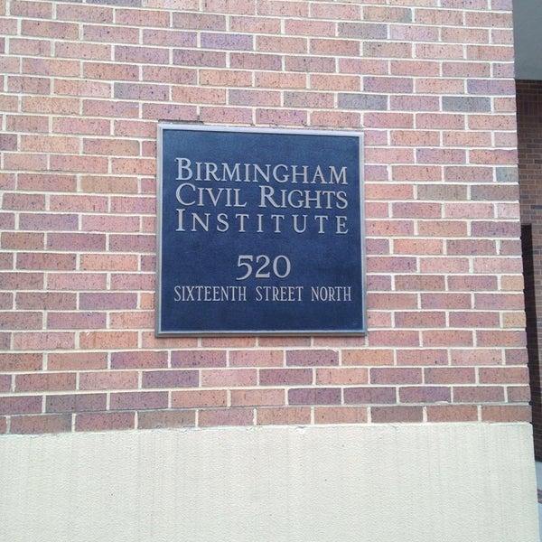 Photo taken at Birmingham Civil Rights Institute by Melanie J. on 10/21/2013